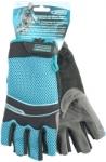 Перчатки комбинированные облегченные, открытые пальцы AKTIV, L, GROSS, 90316