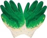 Перчатки вязаные, Хлопковые. Ладонная часть с двойным слоем латекса, КОНТРФОРС, 040725